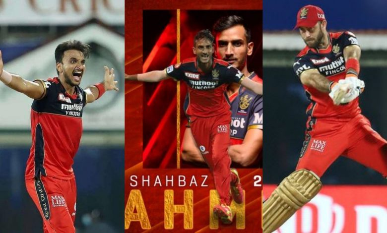 Shahbaz, Harshal Patel and Maxwell