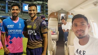 Photo of Shakib and Mustafizur Reached Bangladesh by Charter Flight