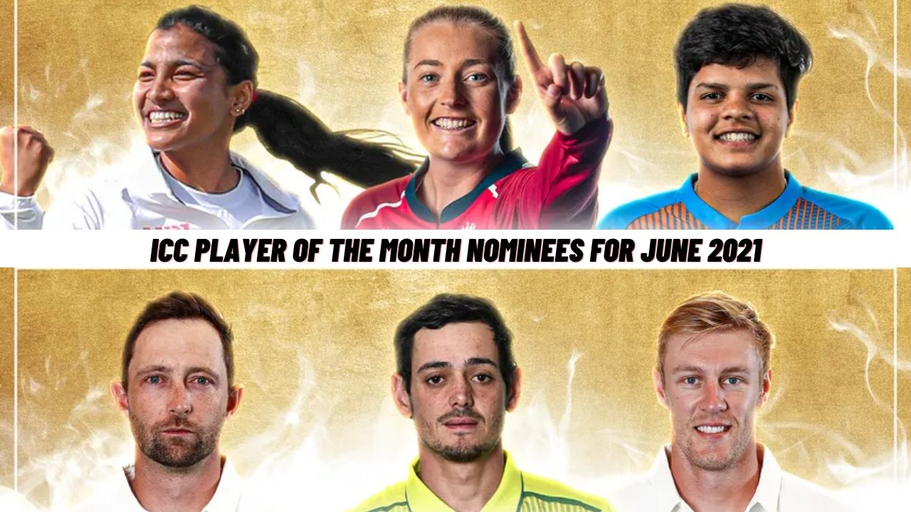 Icc player of the month nominees for june