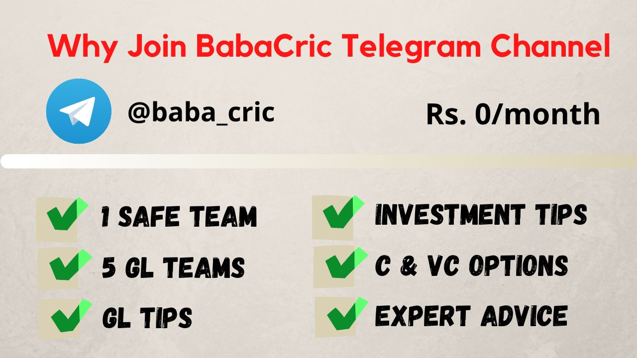 Why Join BabaCric Telegram Channel